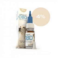 Huile CBD 4 % pour chiens -...